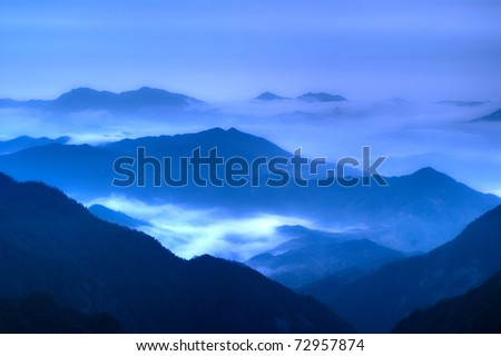 The cloud and mist of Sanqingshan mountain - Filming in  Jiangxi, China The Sanqingshan has been listed as World Natural Heritage