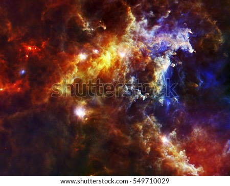 Stock Photo The cloud associated with the Rosette Nebula, a stellar nursery about 5,000 light-years from Earth in the Monoceros, or Unicorn, constellation, Elements of this image are furnished by NASA.