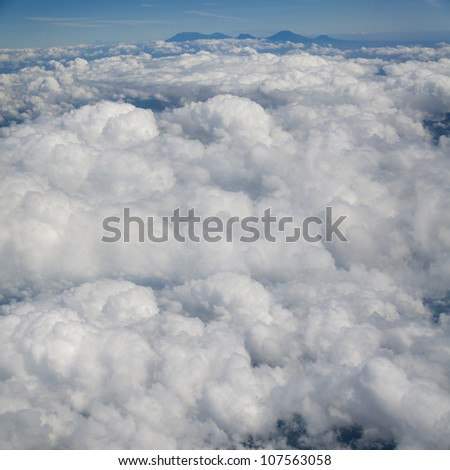 The Clouds Background for Text Message #107563058