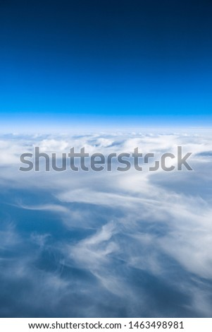 The cloudscape from the airplane #1463498981