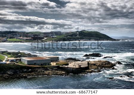 The coast of death in La Coruna, north of Spain
