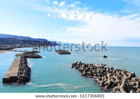 The coast of the Sea of Japan that can be seen in Niigata. ストックフォト ©