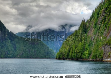The coastal inlets of Misty Fjords National Monument, Alaska