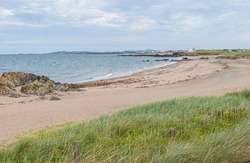 The coastal path from Crigyll Bay to Aberffraw Bay on the island of Angelsey, North Wales, UK August 2005