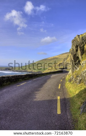 the coastal road leading to the ...