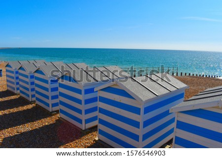 The coastlines of Cornwall, Devon, Somerset and Sussex are most popular locations for having a colourful wooden beach hut on. British coastline #1576546903