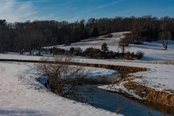 The Codorus Creek on a Frigid Day, York County, Pennsylvania, USA