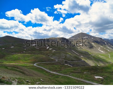 The Col de la Bonette in the French Maritime Alps is the highest public road in Europe for motorized vehicles. Many cyclists climb this pass too. #1331509022