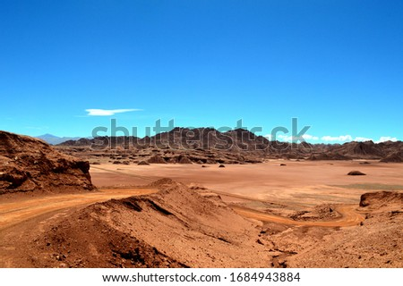 The color and the force of nature in the desert of the devil, Tolar Grande, Salta, Argentina. Stock fotó ©
