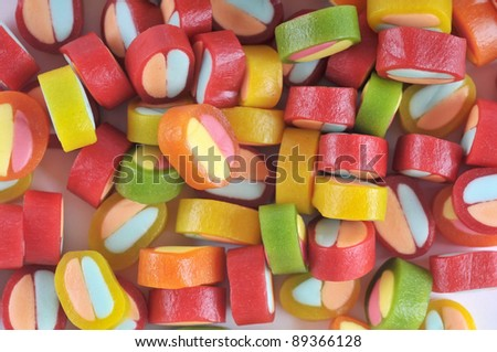 The color background - color jelly candy .