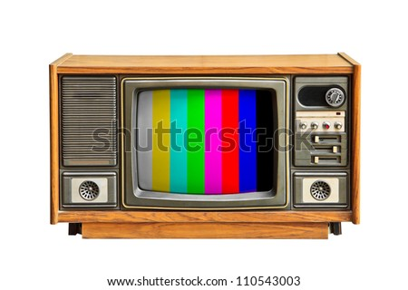 The color of the television.
