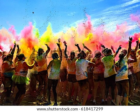 The color run in Stockholm
