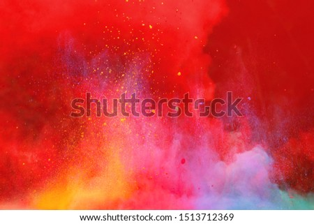 the colorful background, Colorful powder explosion #1513712369