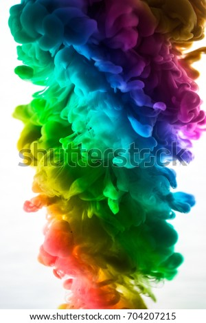 Stock Photo The colorful dye in the water. Abstract. background. Wallpaper. Concept art