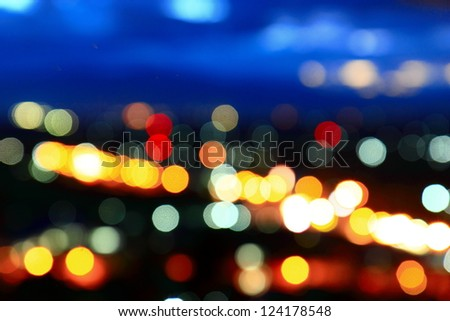 The colorful of a bokeh