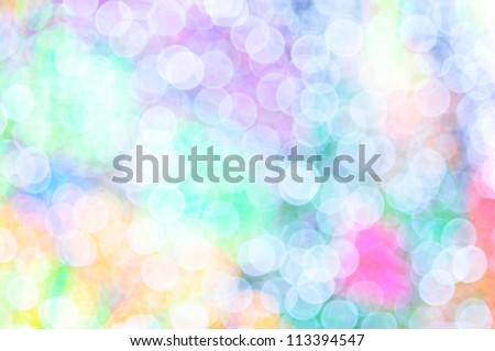 the colorful of lens blur on decoration lighting