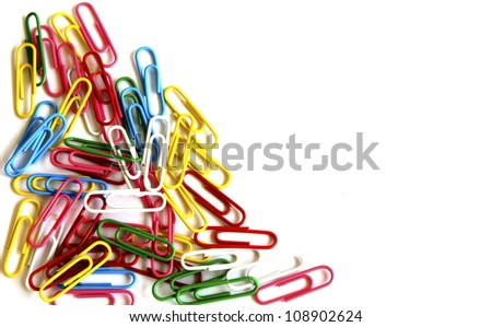 The colorful paperclips