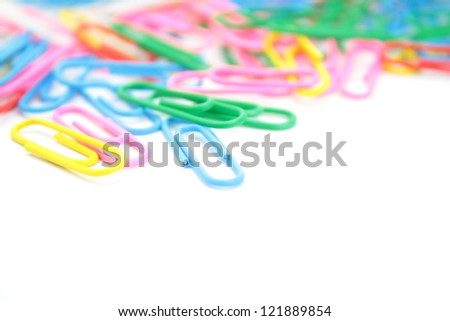 The colorful paperclips.
