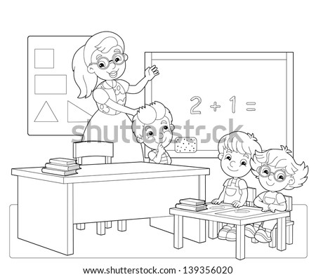 Empty Classroom Coloring Pages Pag
