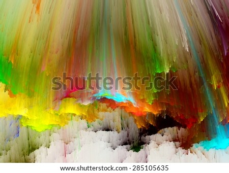The colors in the series, Fancy paint. Background consists of fractal color texture and is suitable for use in projects on imagination, creativity and design