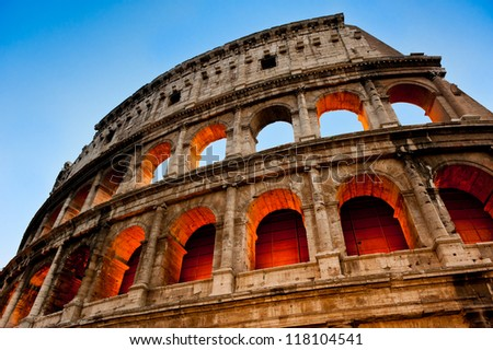 The Colosseum at the evening, Rome, Italy
