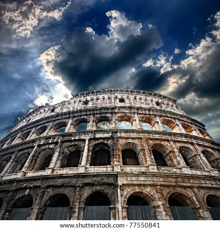 The Colosseum, flaming arena
