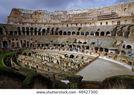 The Colosseum. Most famous place of view in Rome, Italy.