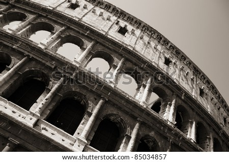 The Colosseum or Coliseum in Rome.