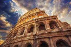 The Colosseum or Flavian Amphitheatre (Amphitheatrum Flavium or Colosseo)