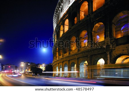 The Colosseum or Roman Coliseum, originally the Flavian Amphitheatre, is an elliptical amphitheatre in the center of the city of Rome, Italy, the largest ever built in the Roman Empire.