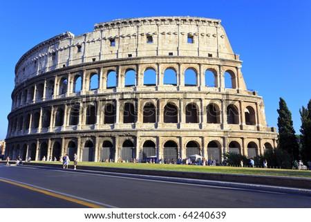The Colosseum, the world famous landmark in Rome