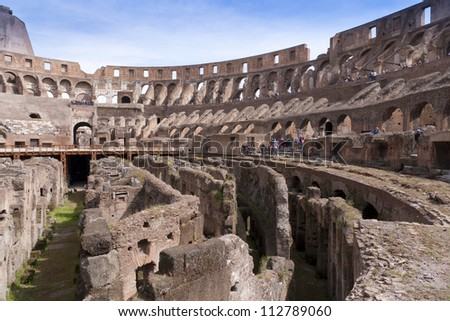 The Colosseum was built in the 70s AD and was the largest amphitheatre built during the Roman Empire. Capable of seating 70,000 spectators.
