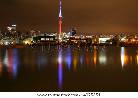 The Colours of Auckland City at Night