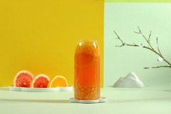 The combination of fresh cocktail drink and ice fruit drink, chocolate smoothie and hot drink series, through the concept of colorful background and art, makes people unable to stop.