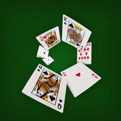The combination of playing cards poker casino