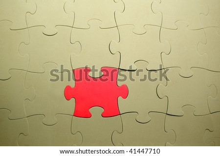 The combined parts of a puzzle