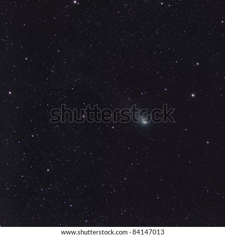 The Comet Garradd Streaking Through the Constellation Sagita