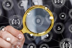 The concept of a case investigation by evidence and fingerprint.