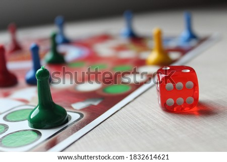 The concept of board games Photo stock ©