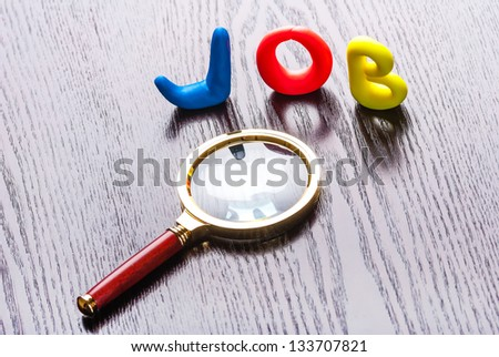 The concept of looking for a job