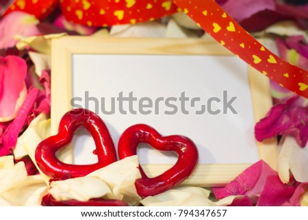Free photos Photos of a couple in love. Red rose petal heart ...
