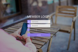 The concept of member login with a username and password.