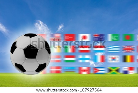 The concept of soccer to the background. #107927564