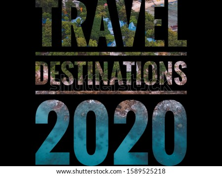 the concept of Travel Destinations 2020