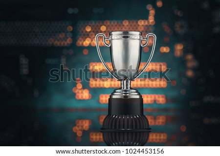 The concept of virtual sports. Championship of video games. Cup  #1024453156
