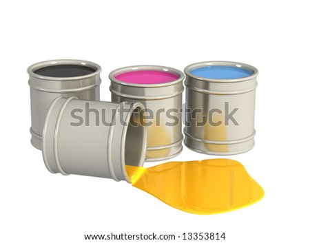The conceptual image - a palette CMYK. Object over white