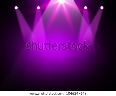 The concert on stage background with flood lights   #1046247649