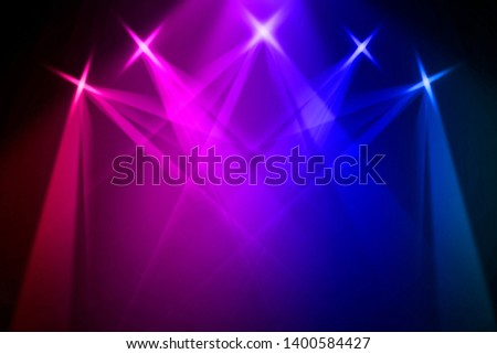 The concert on stage background with flood lights   #1400584427