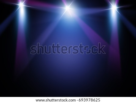 The concert on stage background with flood lights   #693978625