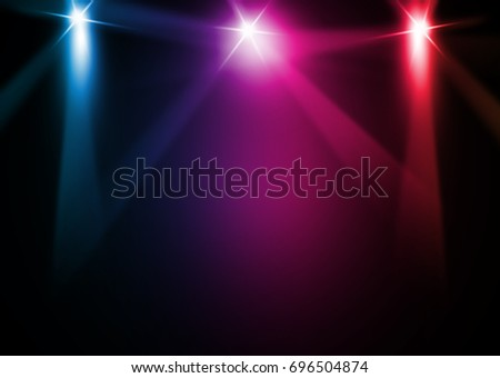 The concert on stage background with flood lights   #696504874
